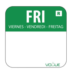 Vogue Removable Colour Coded Food Labels Friday - icegroup hospitality superstore