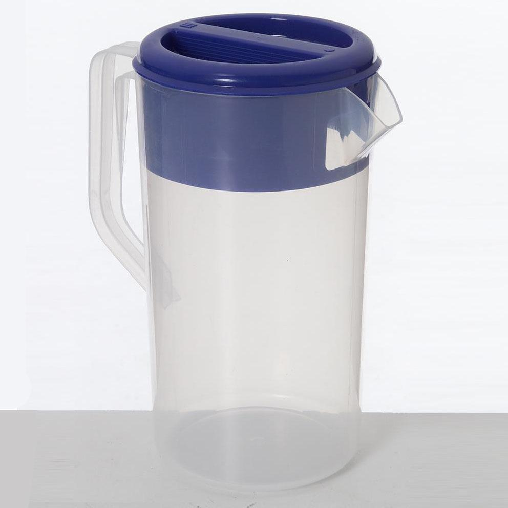 12PCE Ken Hands Jug Plastic Frosted With Blue Lid 2.5Ltr 24214