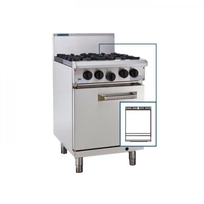 LUUS Professional Griddle Oven 600mm RS-6P (CP)