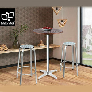 3PCE Outdoor Bistro Bar Cafe Table Stool Set