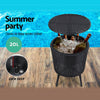 Outdoor Table with Ice Bucket Storage Box