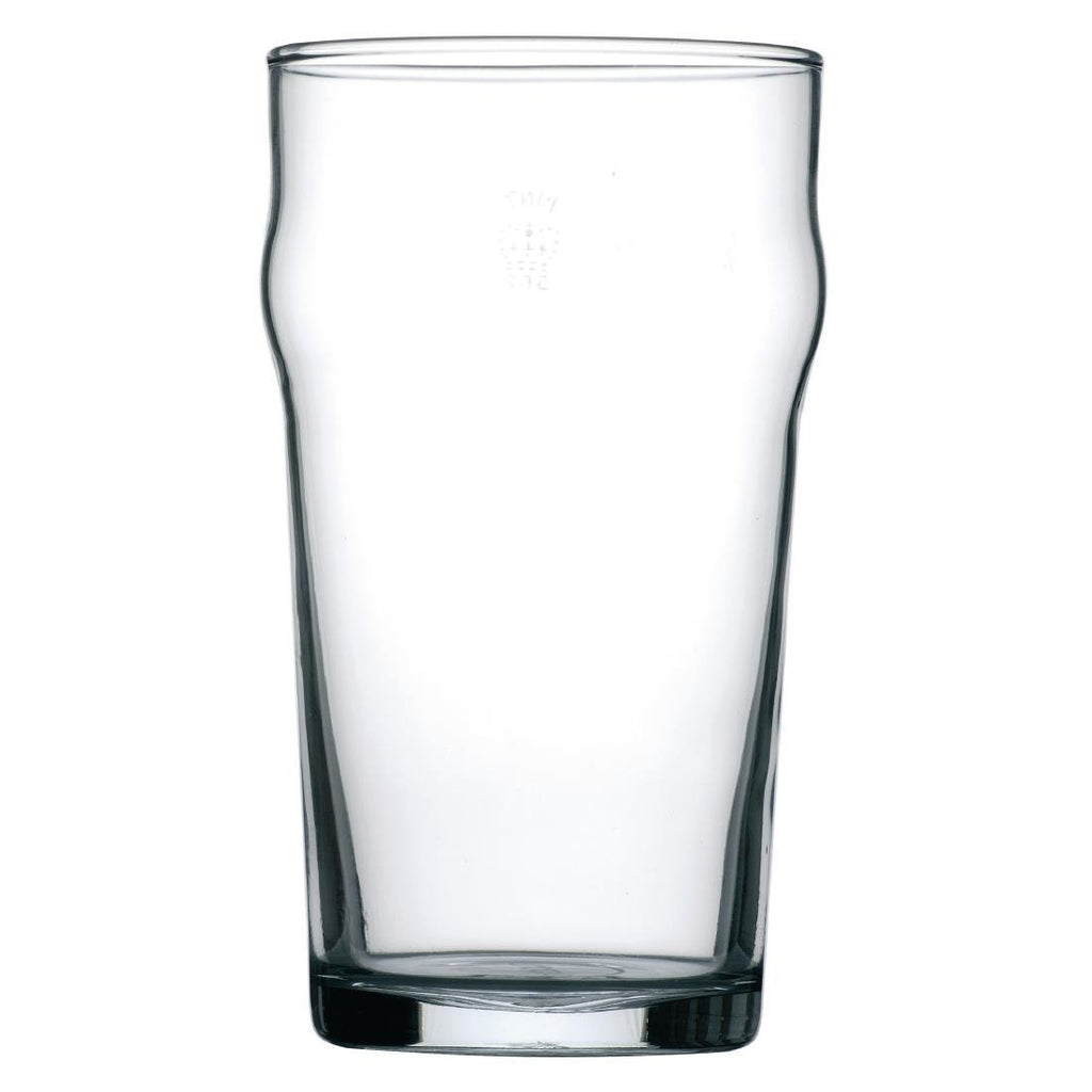 48PCE Arcoroc Nonic Nucleated Beer Glasses 560ml