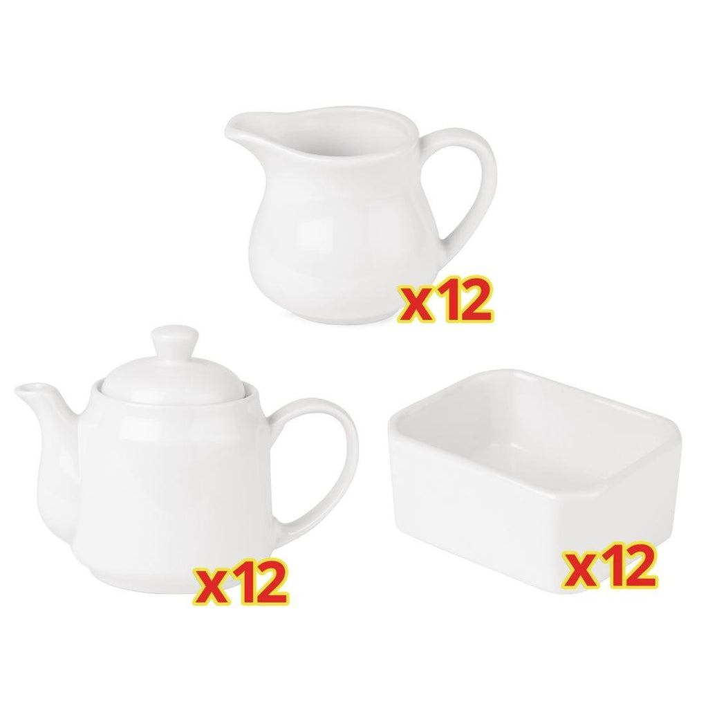 36PCE Athena Tea Service Set