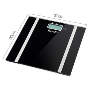 Everfit Electronic Digital Body Fat & Hydration Scale Black