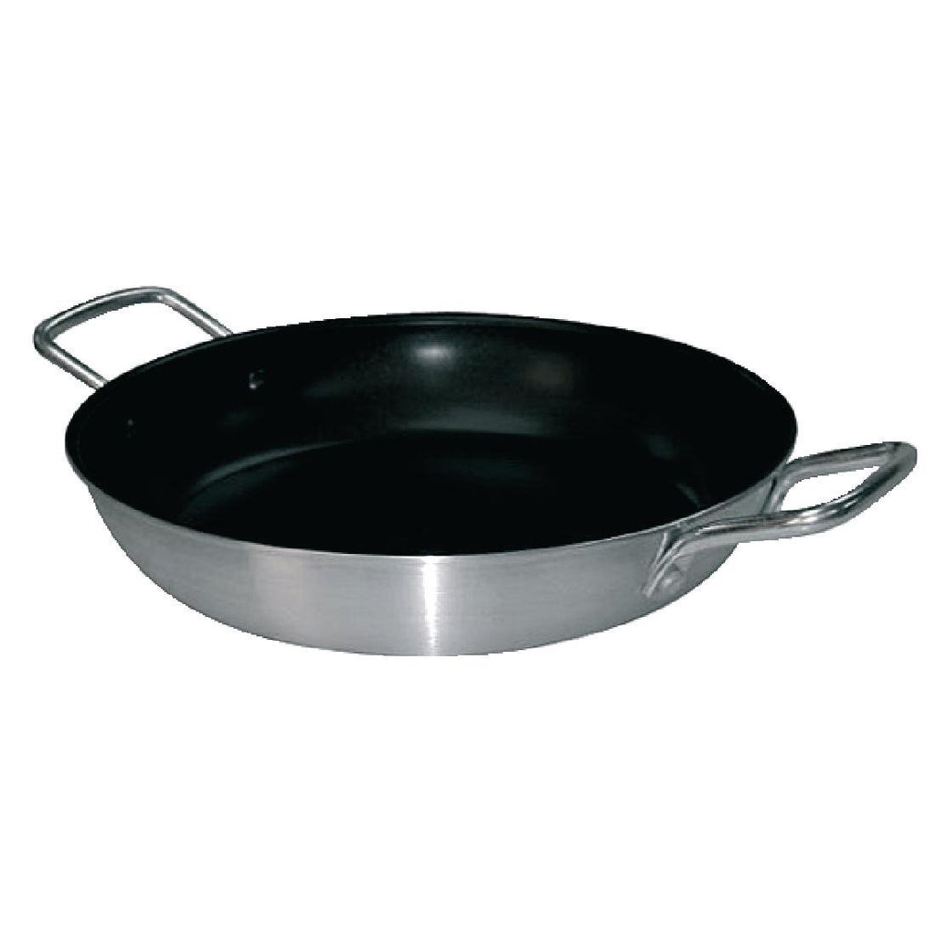 Vogue Non Stick Teflon Aluminium Paella Pan 350mm - ICE Group