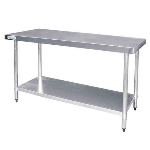 Vogue Stainless Steel Prep Table 1500mm - ICE Group Hospitality Warehouse
