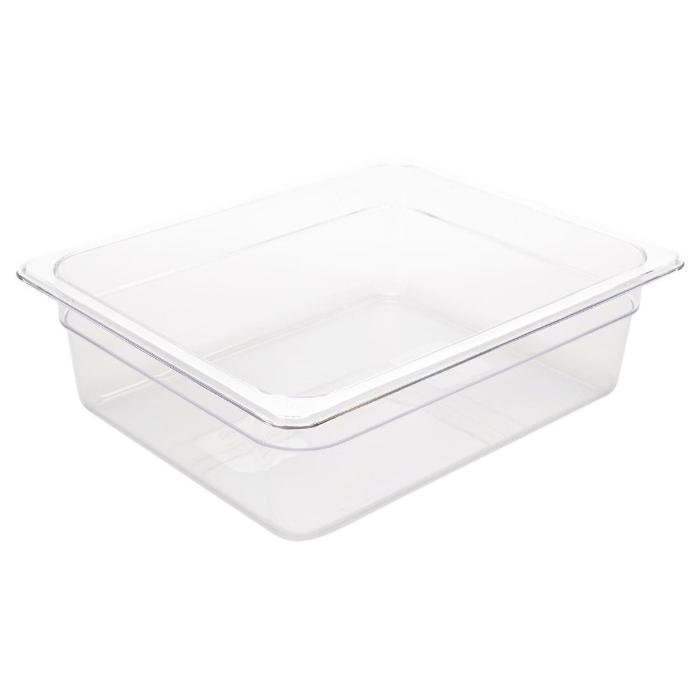 Vogue Polycarbonate 1/2 Gastronorm Container 100mm Clear