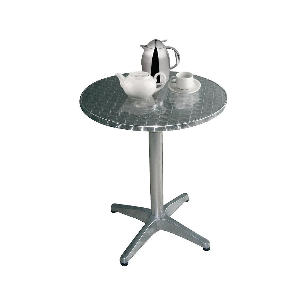 Bolero Round Bistro Table Stainless Steel 800mm
