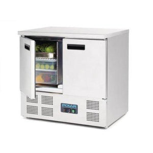 Polar 2 Door Counter Fridge 240L Stainless Steel - icegroup hospitality superstore
