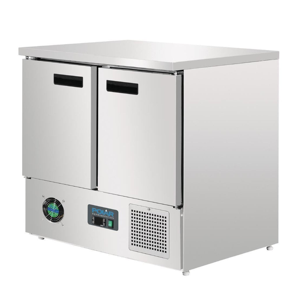 Polar 240L Counter 2 Door Fridge Stainless Steel