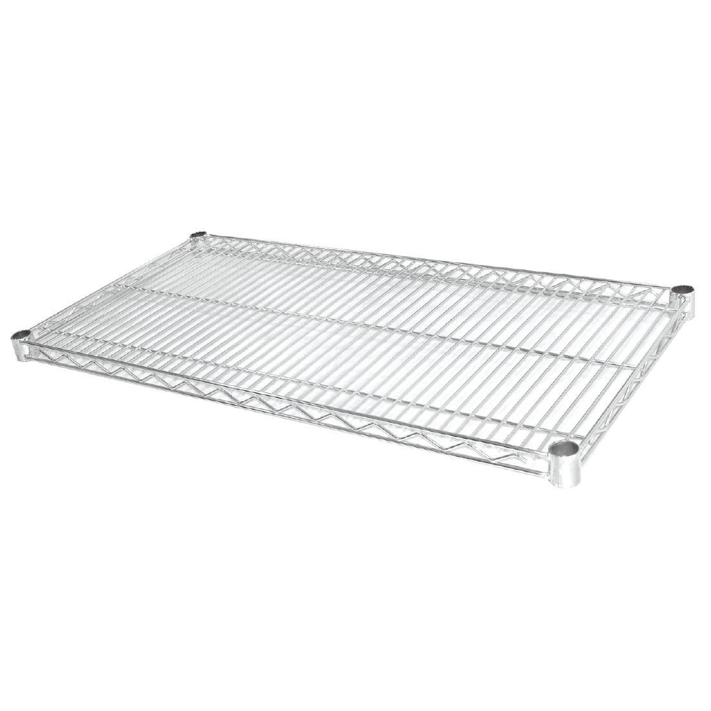 2PCE Vogue Chrome Wire Shelves 1220x457mm