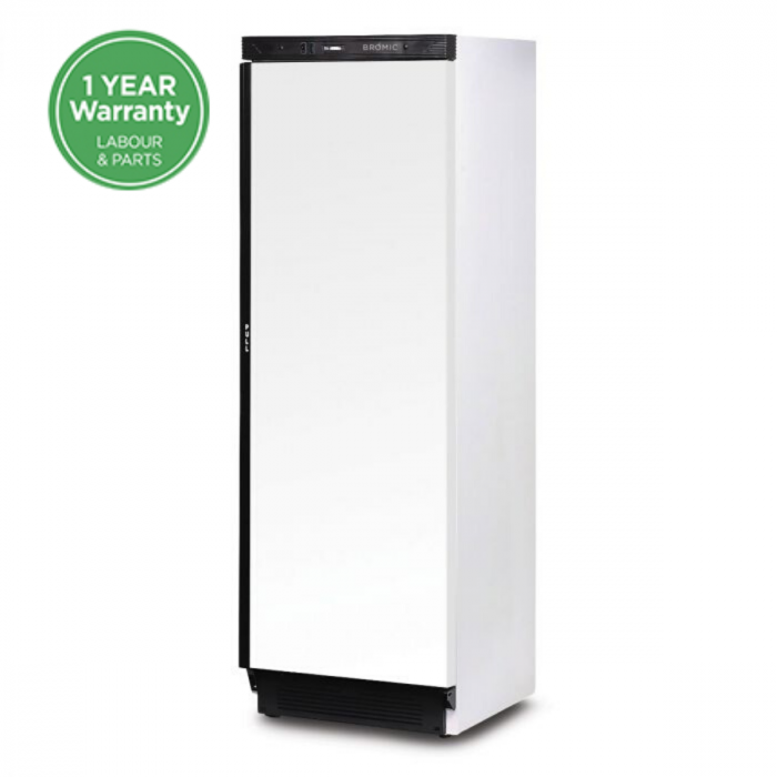 Bromic 372L Solid Door Upright Storage Fridge UC0374SDW