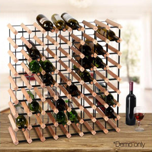 Wine Rack Wooden 72 Bottle - ICE Group