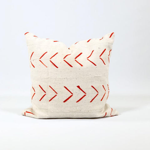 Large Arrow Print Mudcloth Pillow