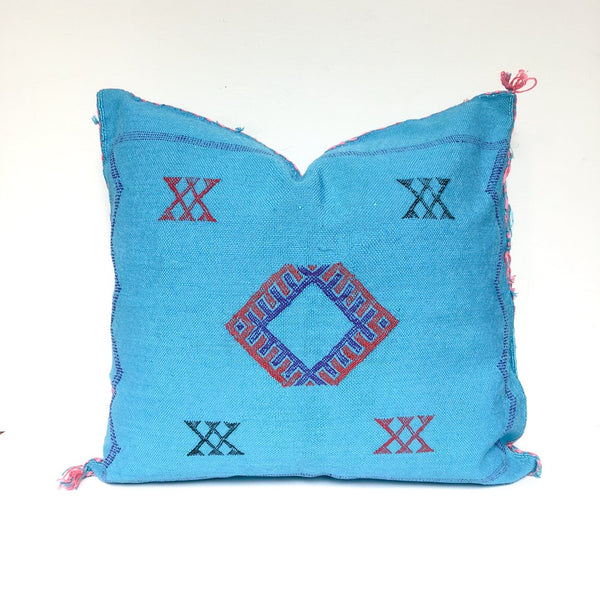 Moroccan Sabra Pillow - Blue