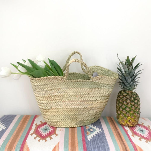 Natural Palm Beldi Market Basket