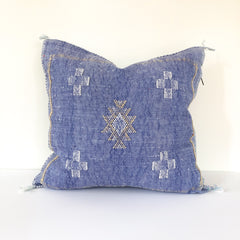 Bohemian Sabra Silk Pillow - Blue Jeans