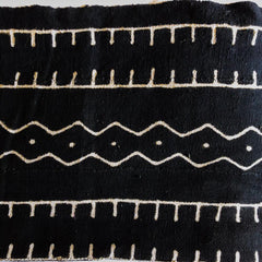 Black African Mudcloth Fabric