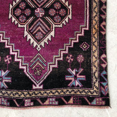 Demet | Purple Vintage Runner Rug