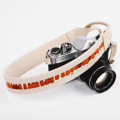 Leather and Silk Camera Strap