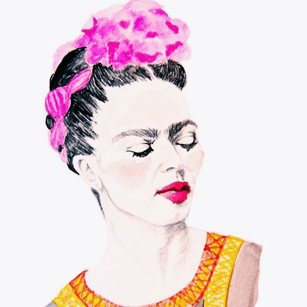 Frida Kahlo Print by Carly Martin