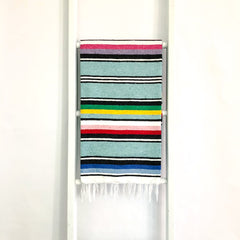Mint Green Mexican Serape Throw Blanket
