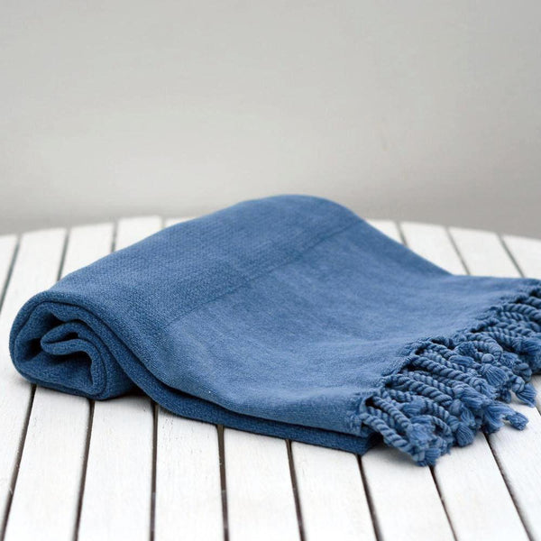 TURKISH HAMMAM TOWEL FARNIENTE BLUE