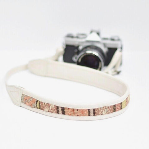 LEATHER CAMERA STRAP SAHARA - WHITE
