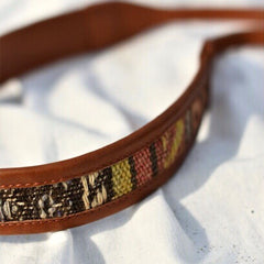 LEATHER CAMERA STRAP SAHARA - BROWN