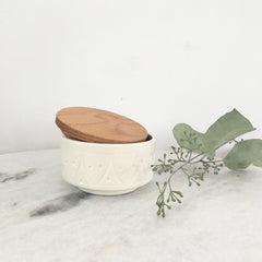 HAND CRAFTED CERAMIC BOX - WHITE