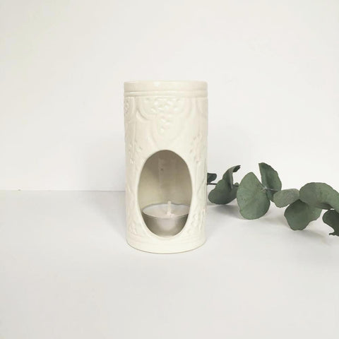 ESSENTIAL OIL DIFFUSER OIL BURNER - WHITE