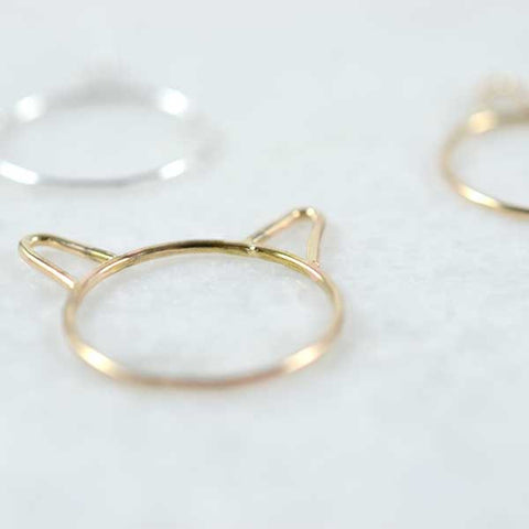 Choupette Kitten Ring Gold 14k