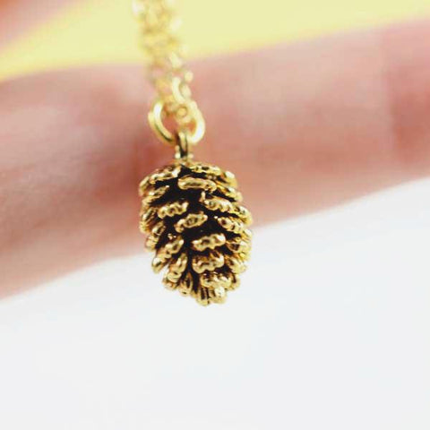 Pinecone Necklace - Gold