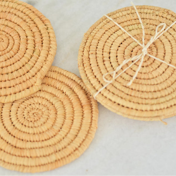 Set of 4 Wicker Coasters