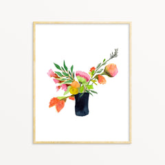 Watercolor Art Print - Summer Bouquet