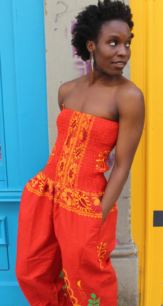 Jaineba Jumpsuit - Orange