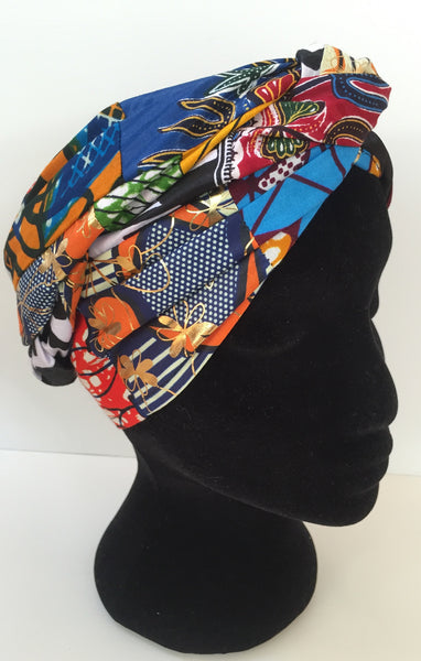 Ousman Head Wrap - Large Head Wrap - Patchwork