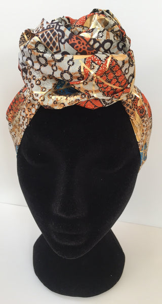 Ousman Head Wrap - Large Head Wrap - Gold