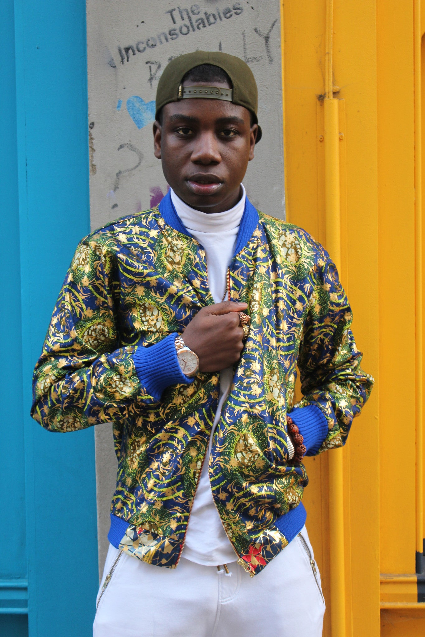 Jaineba Jacket - Gold Blue