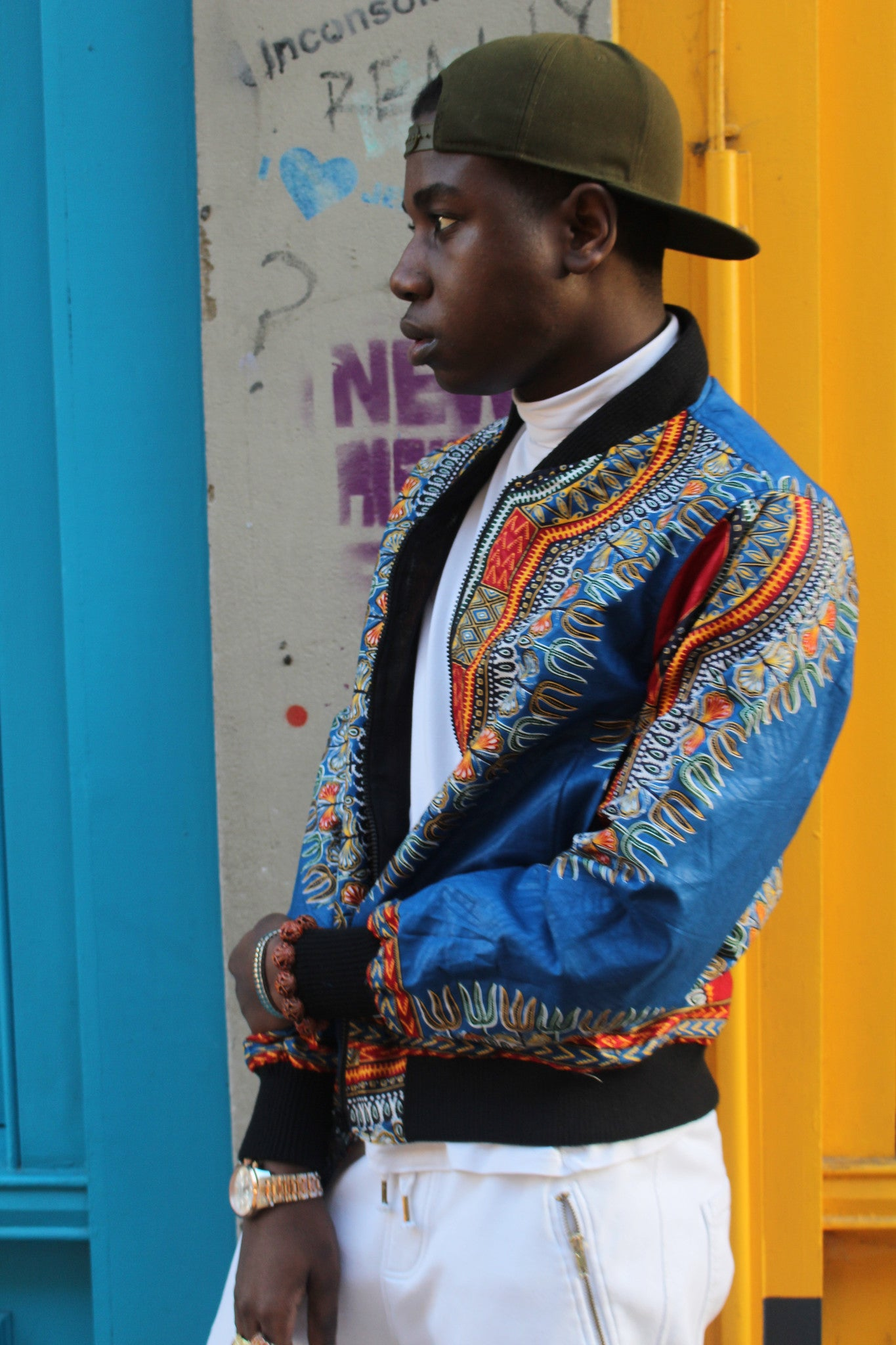 Jaineba Jacket - Blue Dashiki