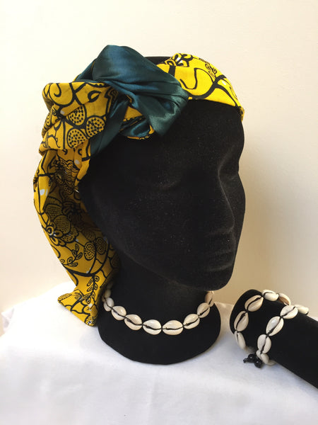 Ousman Head Wrap - Small Head Wrap - Yellow