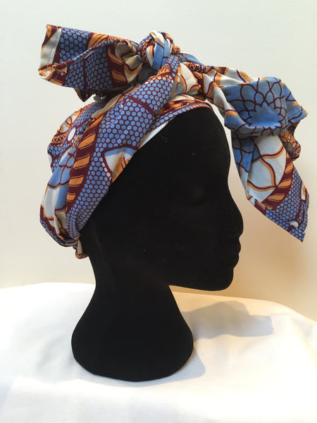 Ousman Head Wrap - Large Head Wrap - Purple