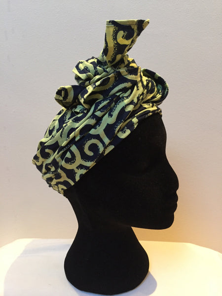 Ousman Head Wrap - Large Head Wrap - Waves