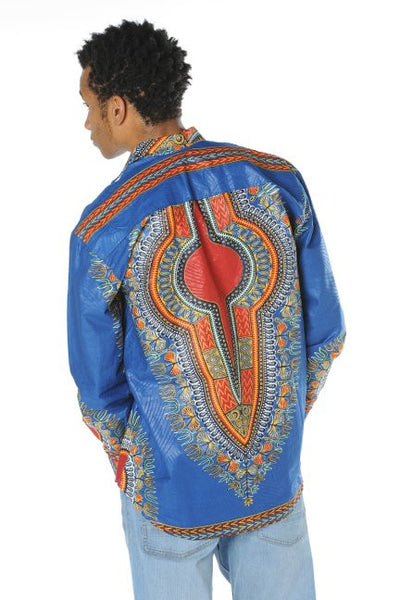 Blue Dashiki Shirt