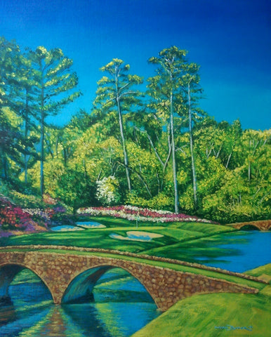 Augusta National Golf Club 12th Hole painting