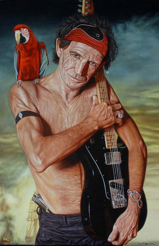 'Kaptain Keef' Keith Richards painting