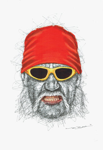 Hulk Hogan Scribble Sketch