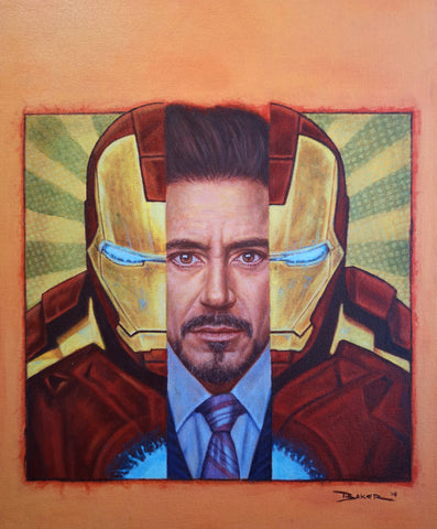 Iron Man - Robert Downey Jr painting