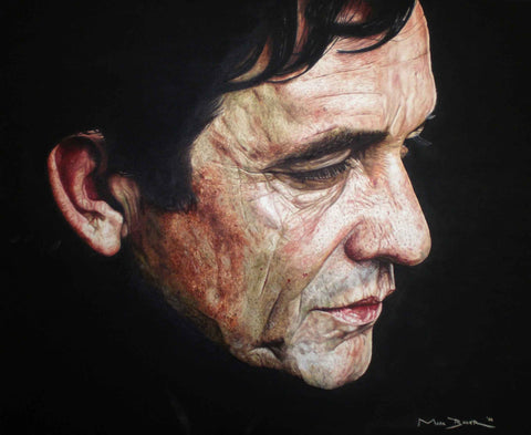 Johnny Cash In Black  – canvas print