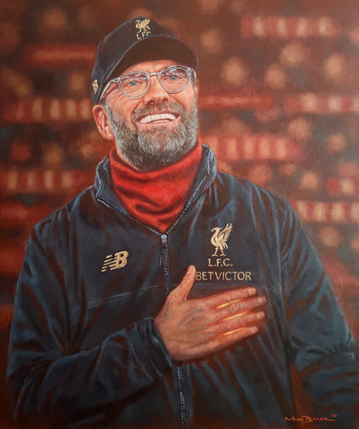 Jurgen Klopp Liverpool FC original painting - SOLD